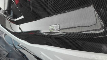 Hood cover for the F8 and F3 models with the CARBON HOOD F30 F31 F8 COVER logo