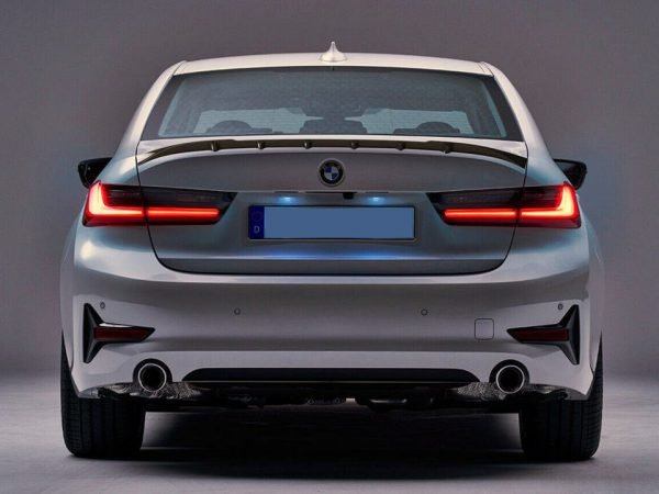 Here you can see our BMW G20 rear spoiler with a unique design.